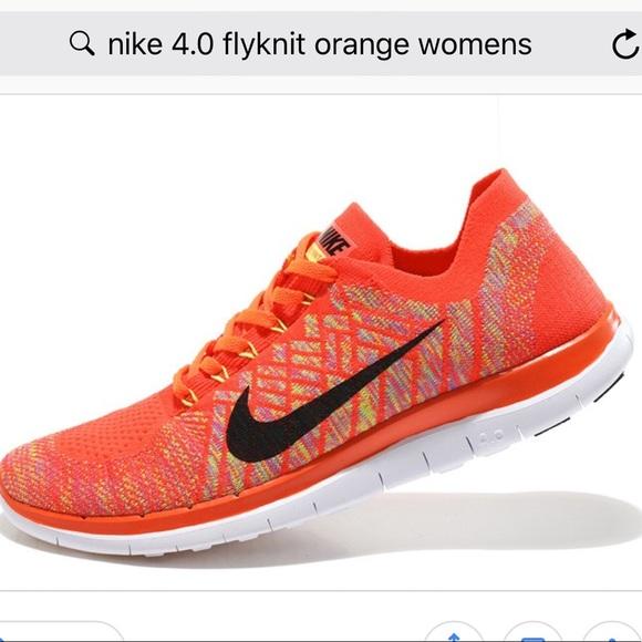 uk availability 32e1a eb8c8 Nike Flyknit 4.0 Orange 9